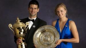 Novak Djokovic y Petra Kvitova