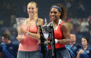 Serena Williams y  María Sharapova en la final. TWA Tenis