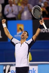 Djokovic celebra su paso a semifinal