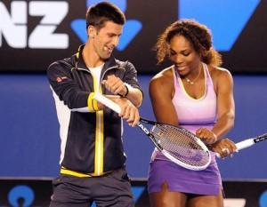 Previo al inicio del Abierto de Australia, Djokovic y Williams se dieron tiempo de bailar en el Kids Tennis Day  / Foto: Vanguardia-EFE